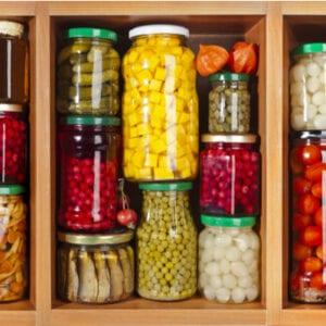 jars of stored food